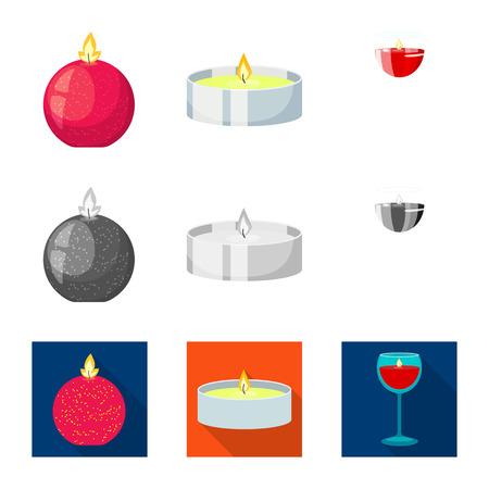 Conception de vecteur d'icône de relaxation et de flamme. Collection de relaxation et illustration vectorielle stock de cire. Vecteurs