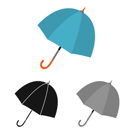 Vector illustration of parasol and autumn icon. Collection of parasol and storm stock symbol for web.