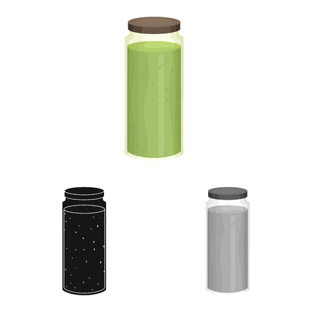 Isolated object of smoothie and seaweed icon. Collection of smoothie and superfoods vector icon for stock.