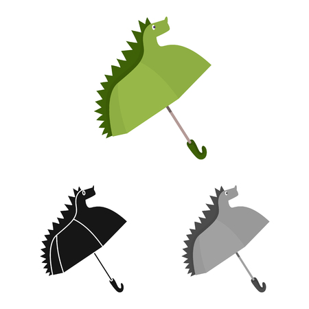 Isolated object of parasol and children icon. Collection of parasol and monsoon stock symbol for web.