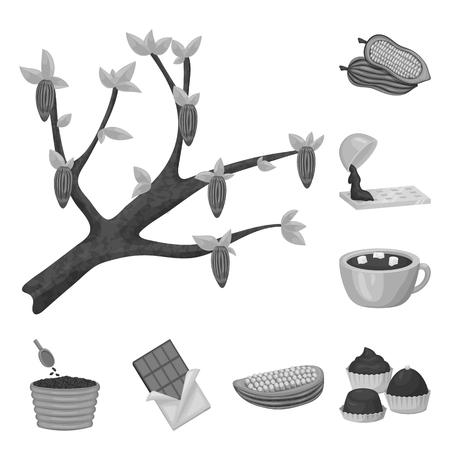 Vector illustration of dessert and sweetness sign. Collection of dessert and product vector icon for stock.