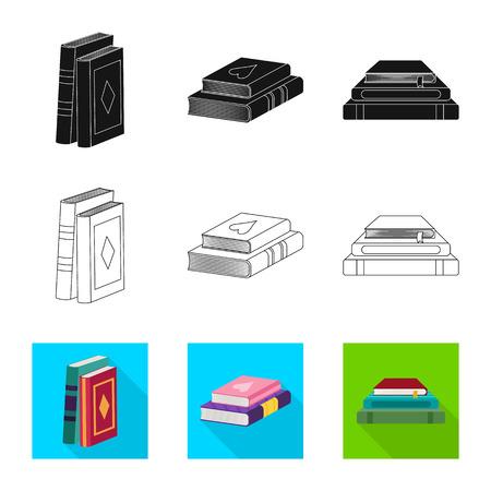 Vector design of training and cover icon. Collection of training and bookstore vector icon for stock. Vektoros illusztráció