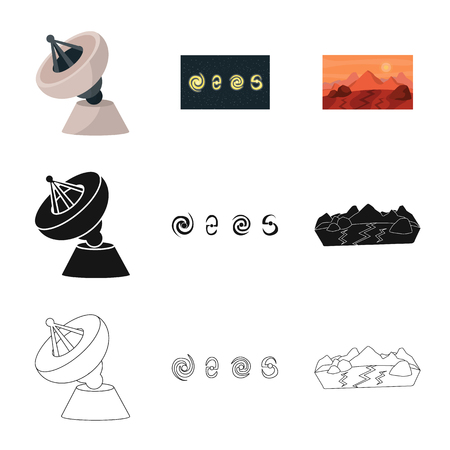 Isolated object of astronomy and technology  icon. Collection of astronomy and sky stock vector illustration.
