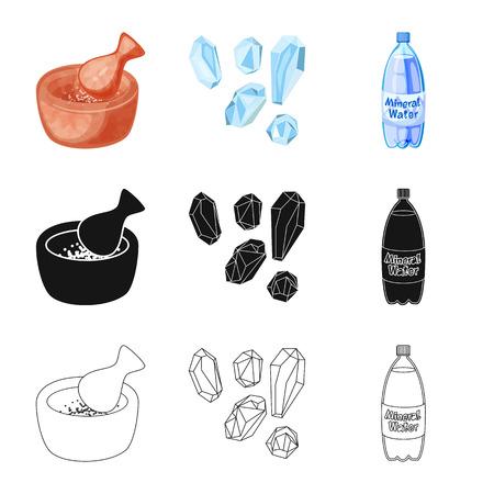Vector illustration of cooking and sea sign. Set of cooking and baking   stock vector illustration. Ilustração