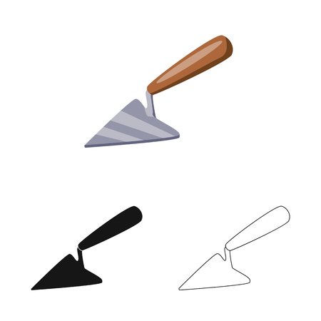Vector illustration of tool and trowel symbol. Collection of tool and repair stock symbol for web. Çizim