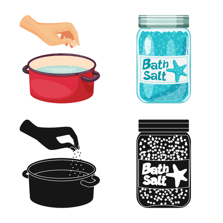 Vector illustration of cooking and sea icon. Set of cooking and baking   stock vector illustration.