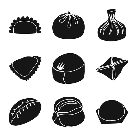 Vector design of cuisine and appetizer icon. Set of cuisine and food stock vector illustration.