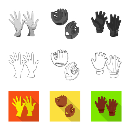 Isolated object of silhouette and safety icon. Set of silhouette and comfort stock symbol for web. Ilustração