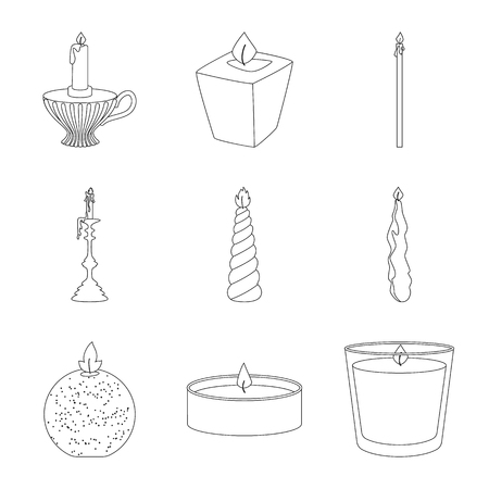 Vector design of source and ceremony  symbol. Collection of source and fire  stock vector illustration. Illusztráció
