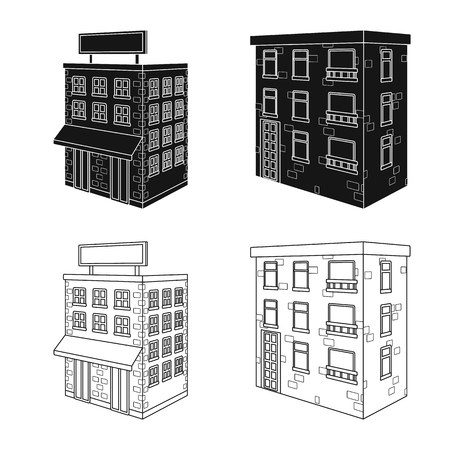 Isolated object of construction and building icon. Set of construction and estate vector icon for stock.