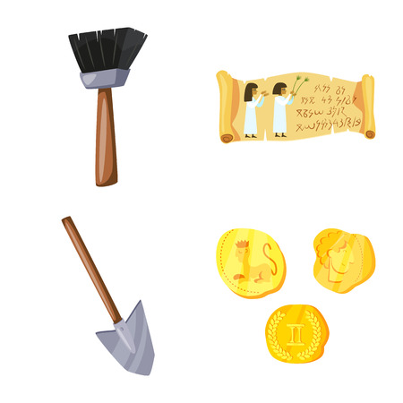 Vector design of archaeology  and historical icon. Set of archaeology  and excavation stock symbol for web. Banque d'images - 122620084