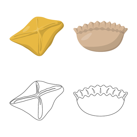 Vector design of products  and cooking symbol. Collection of products  and appetizer vector icon for stock.