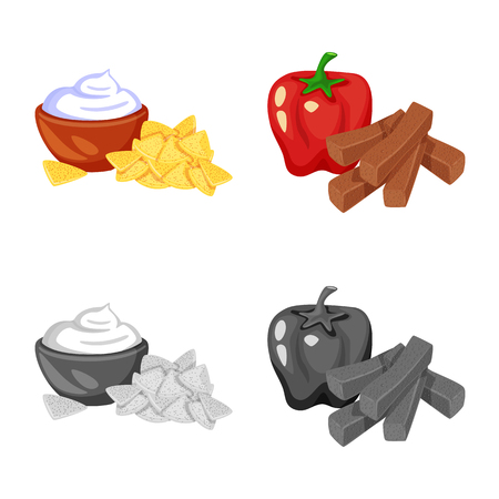 Vector illustration of taste and seasoning icon. Set of taste and organic vector icon for stock.