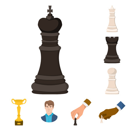 Isolated object of chess and game. Set of chess and strategy vector icon for stock.