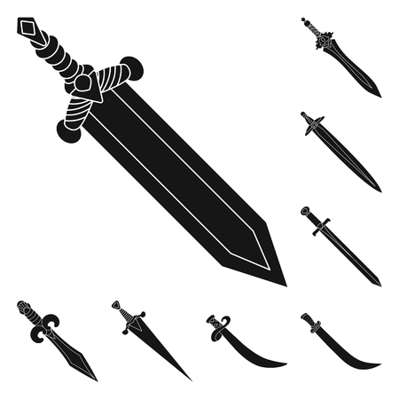 Vector design of sharp and blade  symbol. Collection of sharp and dagger  vector icon for stock.