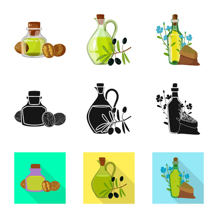 Isolated object of healthy  and vegetable  symbol. Set of healthy  and agriculture vector icon for stock.