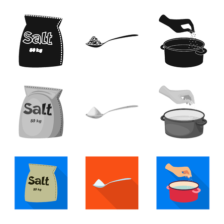 Vector illustration of cooking and sea sign. Collection of cooking and baking stock vector illustration.