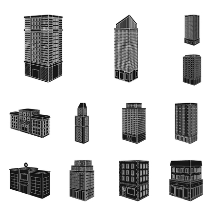 Vector illustration of architecture and estate sign. Collection of architecture and build stock symbol for web.