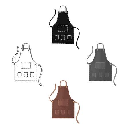 Apron of a hairdresser with pockets.Barbershop single icon in cartoon,black style vector symbol stock illustration web. Ilustracje wektorowe