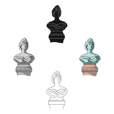 Monument, single icon in cartoon,black style.Monument vector symbol stock illustration web.