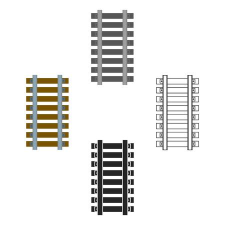 Mine railway icon in cartoon,black style isolated on white background. Mine symbol stock vector illustration.