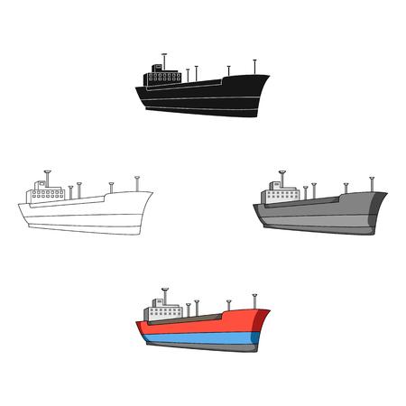 Oil ship.Oil single icon in cartoon,black style vector symbol stock illustration web.