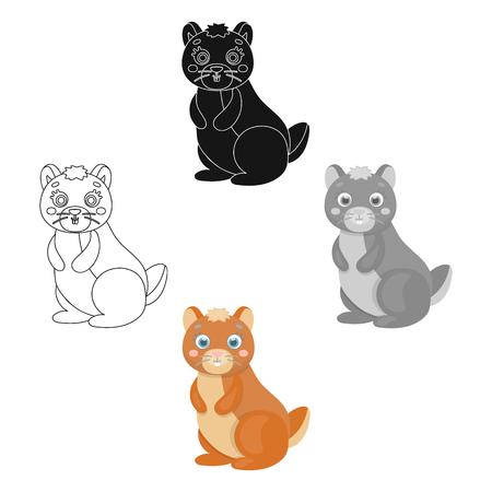 Kangaroo, single icon in cartoon,black style.Kangaroo, vector symbol stock illustration web.