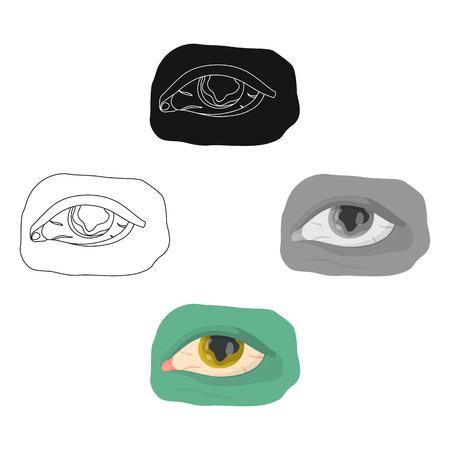 Eye single icon in cartoon,black style.Eye, vector symbol stock illustration web.