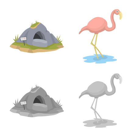Vector design of nature and fun symbol. Collection of nature and entertainment stock vector illustration.