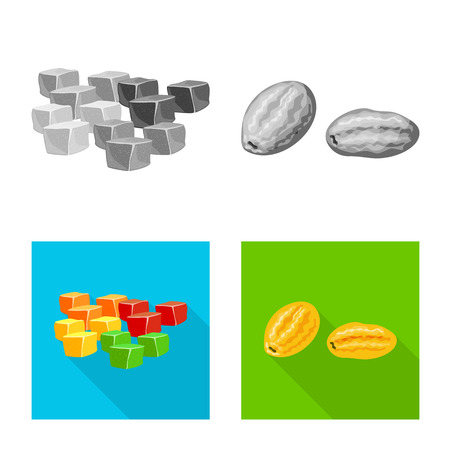 Isolated object of food  and raw  symbol. Set of food  and nature   vector icon for stock.
