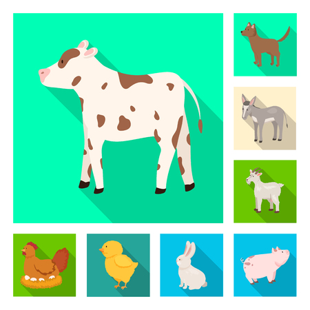 Isolated object of breeding and kitchen  sign. Collection of breeding and organic  stock vector illustration.