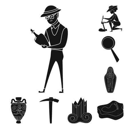 Vector design of museum and attributes  symbol. Collection of museum and historical stock symbol for web.
