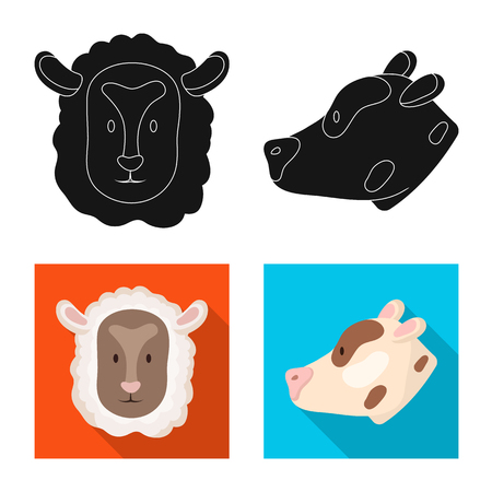 Vector illustration of agriculture and breeding icon. Set of agriculture and organic  vector icon for stock.