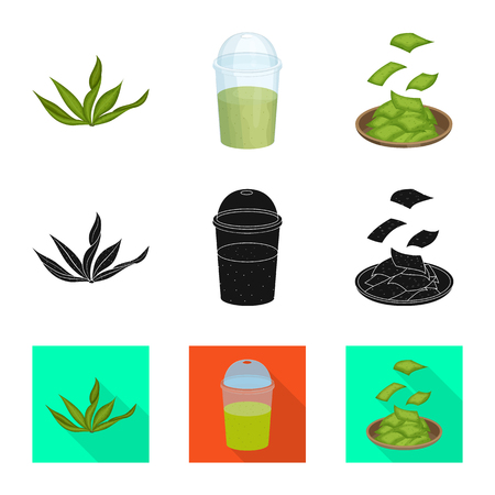 Isolated object of protein and sea sign. Set of protein and natural vector icon for stock.