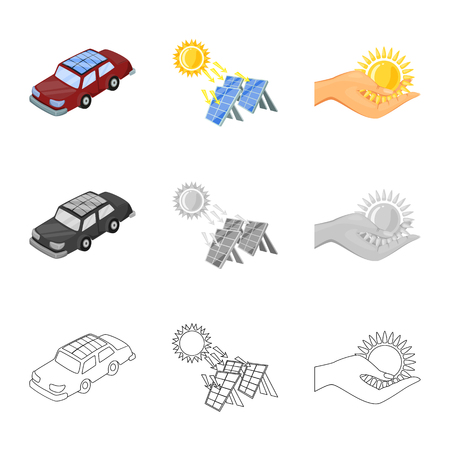 Vector illustration of innovation and technology  symbol. Set of innovation and nature  stock symbol for web. Иллюстрация