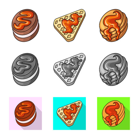 Isolated object of confectionery and culinary icon. Set of confectionery and product vector icon for stock.