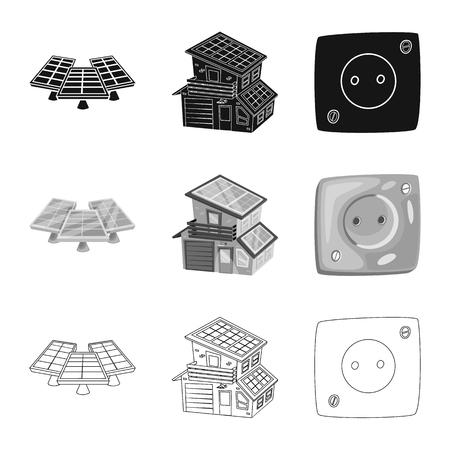 Vector illustration of innovation and technology  icon. Set of innovation and nature  stock vector illustration. Ilustração