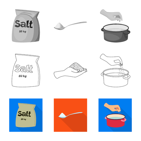 Vector illustration of cooking and sea symbol. Collection of cooking and baking   stock vector illustration.