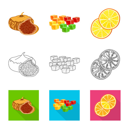 Vector design of food  and raw  sign. Collection of food  and nature   stock vector illustration.
