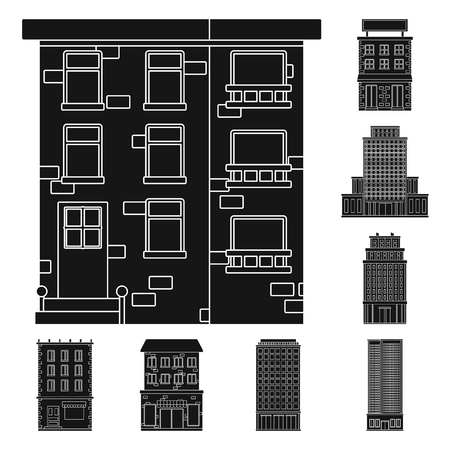 Isolated object of modern and estate   icon. Set of modern and building vector icon for stock.