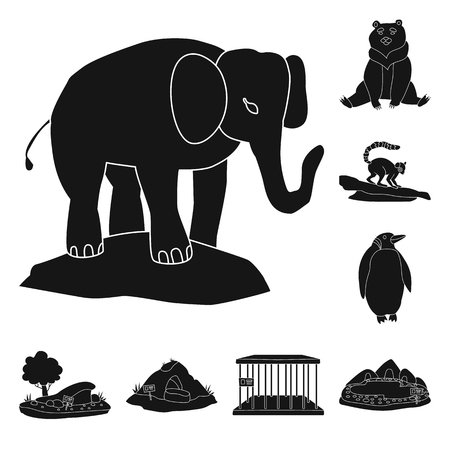 Isolated object of fauna and entertainment sign. Collection of fauna and park stock symbol for web.  イラスト・ベクター素材