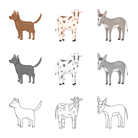 Isolated object of breeding and kitchen  symbol. Collection of breeding and organic  stock vector illustration. Zdjęcie Seryjne - 122829279