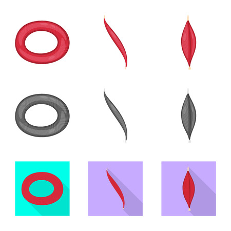 Vector design of fiber and muscular sign. Collection of fiber and body  vector icon for stock. Illustration