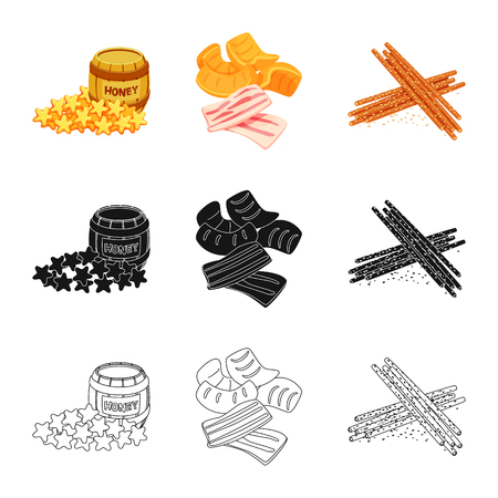 Isolated object of taste and seasonin icon. Collection of taste and organic   stock vector illustration. Ilustrace