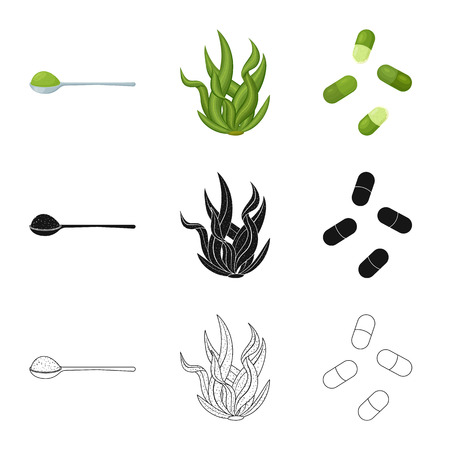 Vector design of protein and sea icon. Set of protein and natural stock vector illustration.