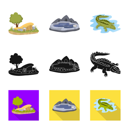 Isolated object of nature  and fun  symbol. Set of nature  and entertainment vector icon for stock.  イラスト・ベクター素材