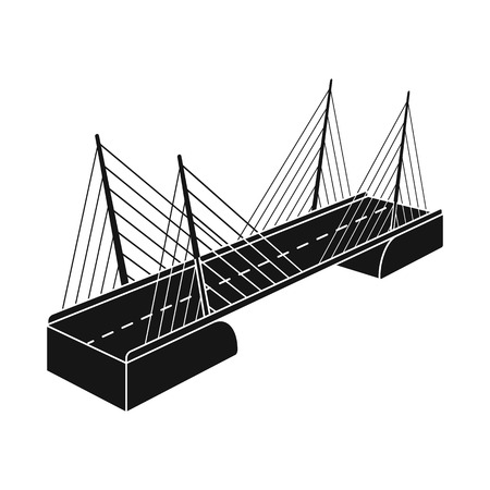 Isolated object of bridge and construction icon. Collection of bridge and suspended  vector icon for stock.