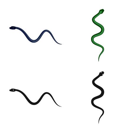 Vector design of mammal and danger symbol. Set of mammal and medicine stock vector illustration.