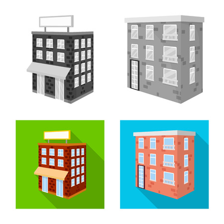 Vector illustration of construction and building symbol. Set of construction and estate vector icon for stock.