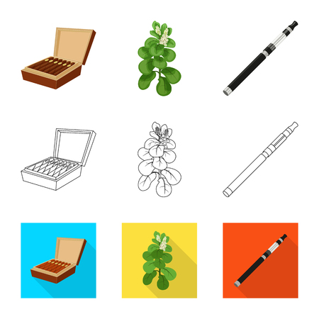 Vector illustration of refuse and stop. Collection of refuse and habit stock vector illustration.